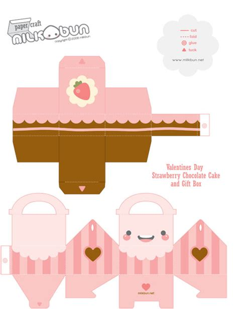 kawaii box template printable diy and crafts pinterest cake box box papercraft and box templates