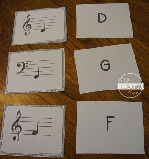 printable staff note flash cards free music note flashcards