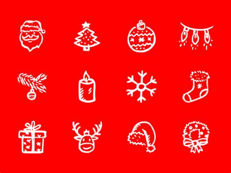 christmas icons vectors psd greeting cards