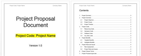 project proposal template download free