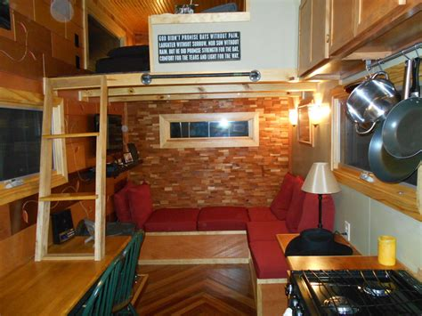 tiny homes interior designs mike lives virtually free in his tiny house tiny house