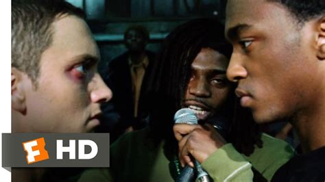 eminem movie real life 8 mile 2002 rabbit battles papa doc scene 10 10