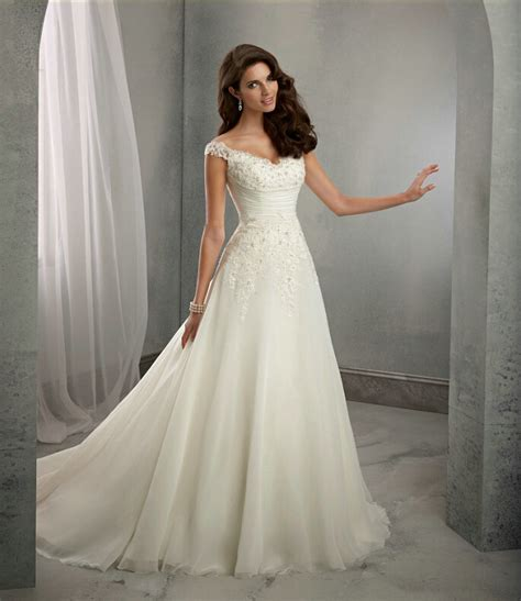 Wedding Dresses With Cap Sleeves by A Line Cap Sleeves Lace Wedding Dress Uniqistic