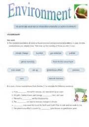 english teaching worksheets environment and nature