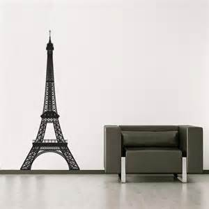 eiffel tower giant wall stickers pictures to pin on pinterest vinyl wall decal sticker paris france eiffel tower 877a