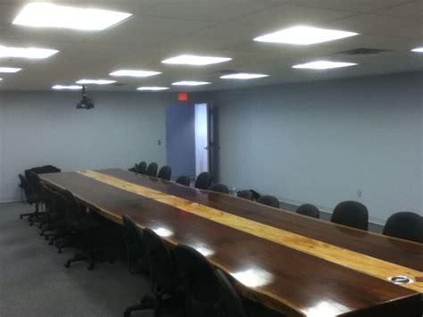 Custom Boardroom Tables Handmade 26 70 Quot Wide Boardroom Table Black Walnut Live Edge By Woodrich Custommade
