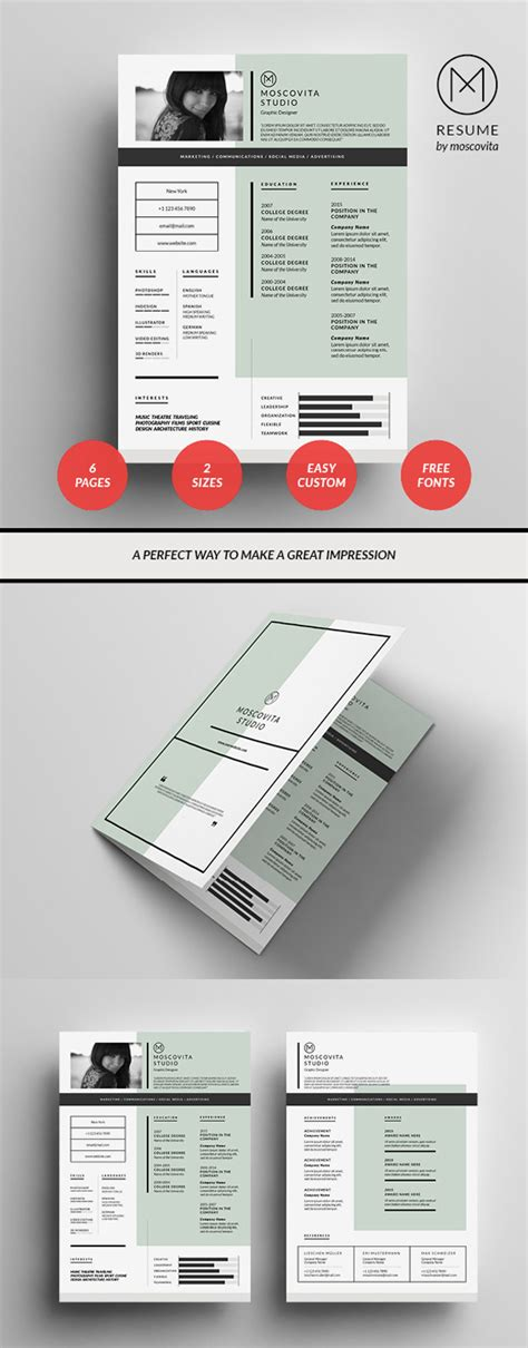 Graphic Design Resume Template by 50 Best Resume Templates Design Graphic Design Junction
