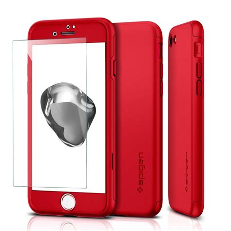 Slcsp36 Spigen 360 Iphone 7 iphone 7 7 plus対応 360度全面保護ケース spigen シン フィット 360 のredモデル買ってみた レビュー レポート