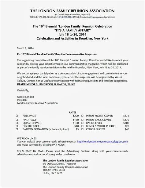 Family Reunion Letter Templates Portablegasgrillweber Com Family Letter Template