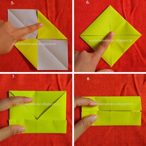 Origami Paper India - my indian version diy paper box tutorial
