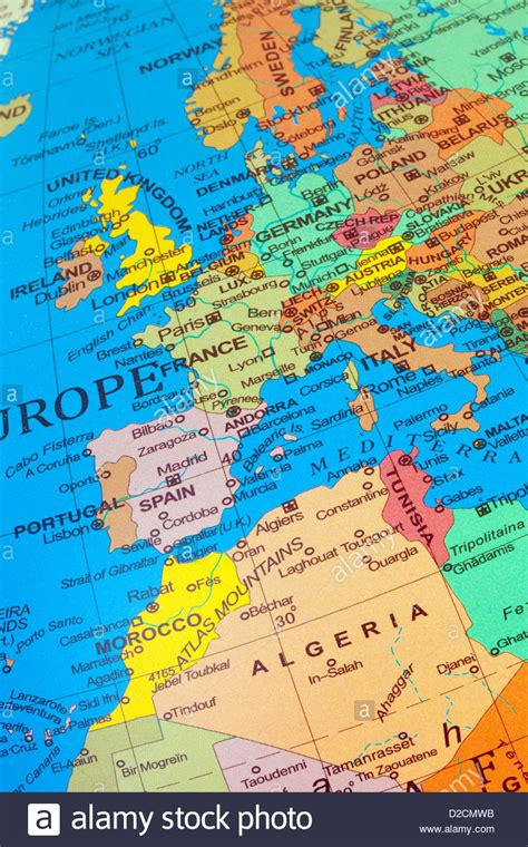 map of europe and africa with countries a map showing countries of western europe and the uk with