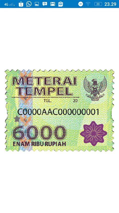 Jual Materai Tempel 6000 Kaskus jual meterai tempel 6000 edisi paling baru harga per 3