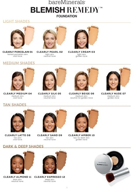 bare minerals foundation colors bareminerals blemishremedy shades 1128 215 1553 compras