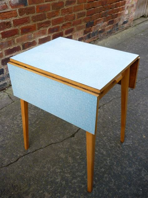 Kitchen Table With Leaf Midcentury Formica Drop Leaf Kitchen Table Beautiful Blue