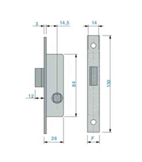 serratura porta alluminio serratura verticale mini da infilare per porte in