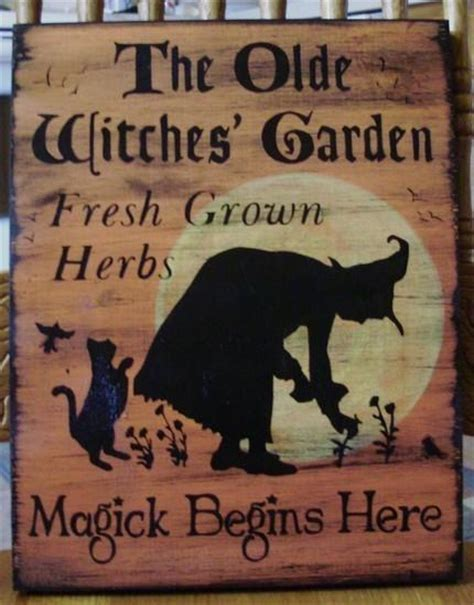 signs of black magic in your house primitive witches garden sign herbs by sleepyhollowprims on zibbet