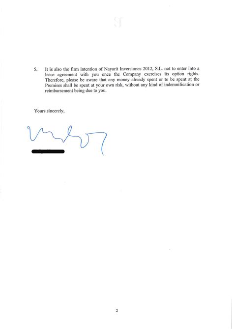 Letter Of Non Renewal Of Rental Lease To Landlord Non Renewal Of Lease Letter Page 2 Jpg Images Frompo