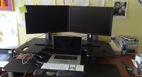 Standing Desk Setup Varidesk Pro Plus 48 Standing Desk Review Gigabody