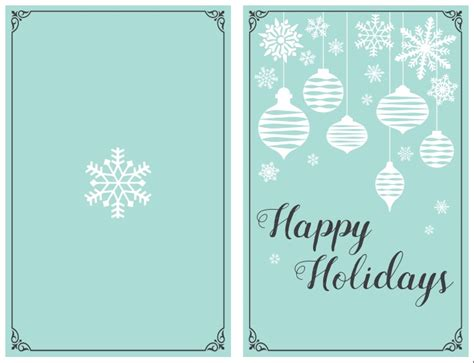 Happy Holidays Photo Card Template Free by 47 Free Printable Card Templates You Can Even