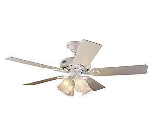 Hunter 28096 Westminster 52 Ceiling Fan With Light Qvc Com Westminster Ceiling Fan