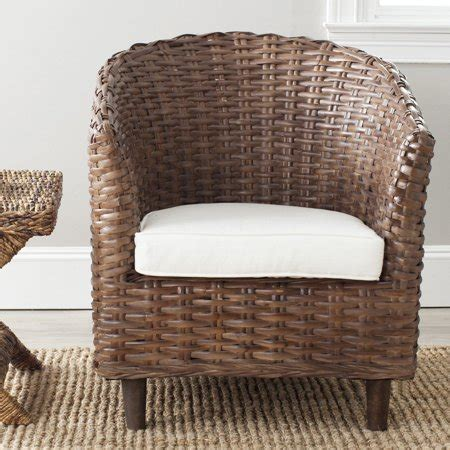 wicker barrel chair safavieh omni rattan barrel chair walmart