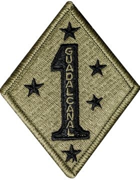 operational camouflage pattern unit patches ocp unit patch 1st marine division with fastener