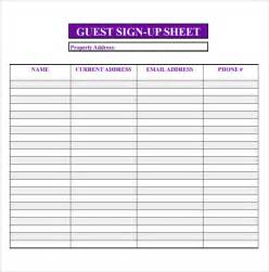 free templates for sign in sheets sle open house sign in sheet 10 documents in pdf