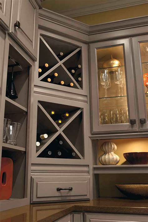 kitchen cabinet wine rack ideas wine storage cabinet kemper cabinetry