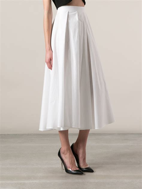 antonio marras pleated a line skirt in white lyst