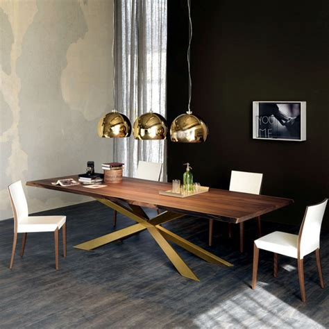 modern dining table design by cattelan italia steel base