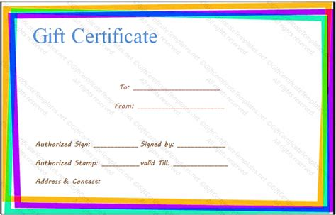 borderless certificate templates gift certificate border templates