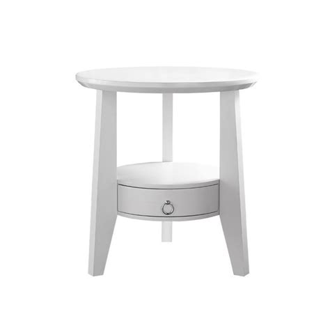 white accent table with drawers accent table in white with drawer i 2492