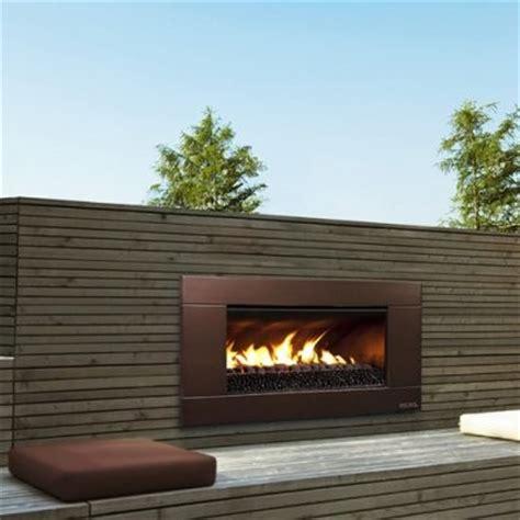 escea ferro bronze outdoor gas fireplace insert modern