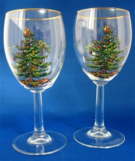 spode christmas tree wine glasses products i love