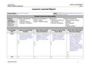 lessons learned project management template lessons learned template doliquid