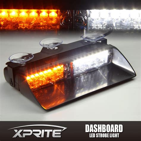 amber led strobe lights 16 led 18w windshield emergency flash strobe light for
