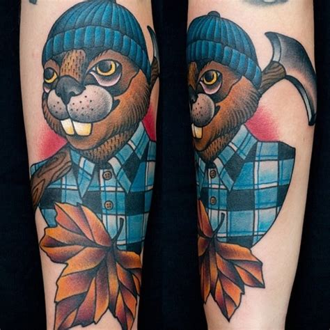 beaver tattoos arianna settembrino buck toothed beaver