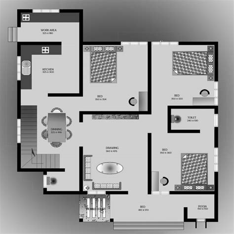 4 Bedroom 4 Bath House Plans 1500 square feet 3 bedroom low budget home design and plan