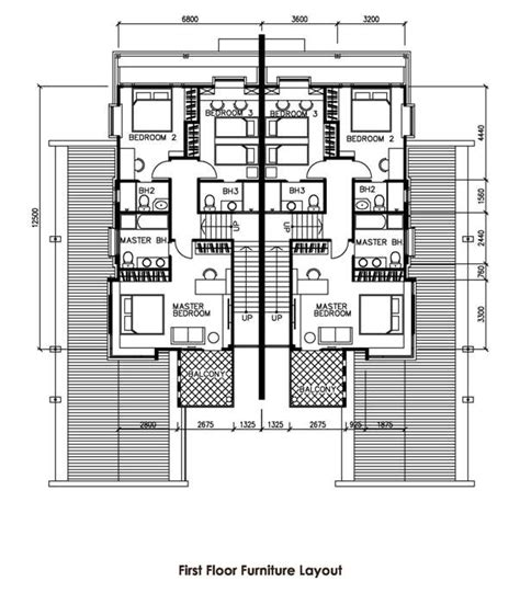 semi detached house plan picasso villa double storey semi detached house