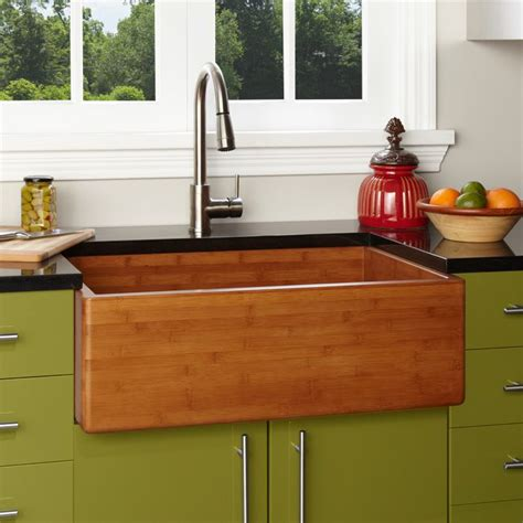 bamboo kitchen sink sinks bamboo farmhouse sinks 33