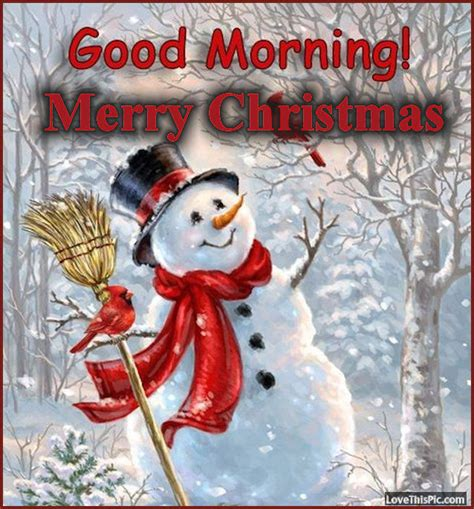 snowman good morning merry christmas image quote pictures   images  facebook