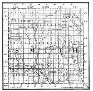 smith county map smith county ks