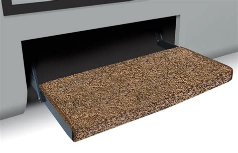 rv step rug cer step rug jumbo wraparound brown 23 quot wide