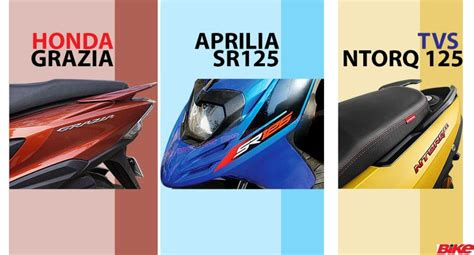 Dimensions Of A Three Car Garage Spec Comparison Tvs Ntorq 125 V Aprilia Sr125 And Honda