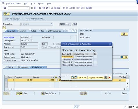 sap tutorial wiki invoice reduction with document splitting active exle