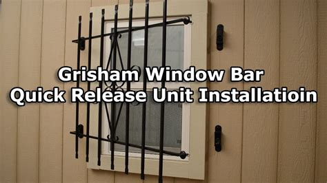 interior window bars release how to install a grisham window bar release unit