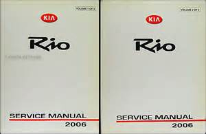 2006 Kia Owners Manual 2006 Kia Repair Shop Manual Original 2 Vol Set