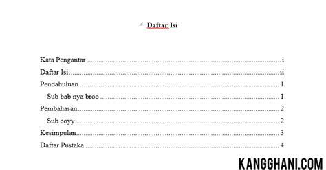 membuat daftar isi otomatis word 2010 pdf cara membuat daftar isi otomatis di ms word