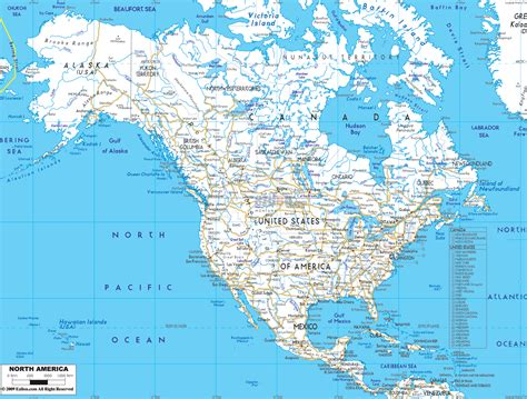 map of usa with city detail detailed clear large road map of north america ezilon maps