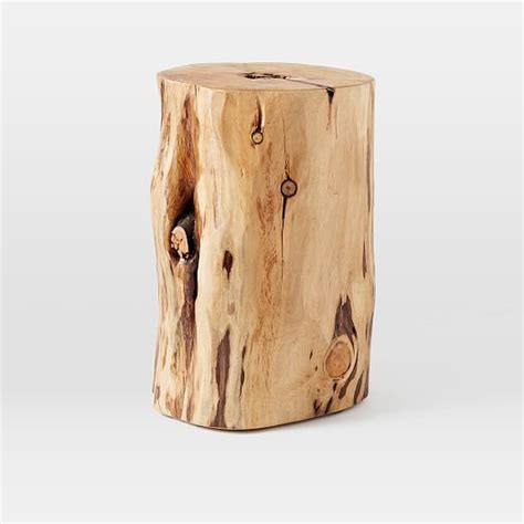 Stump Side Table Tree Stump Side Table West Elm